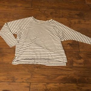 Madewell B+W Striped Top